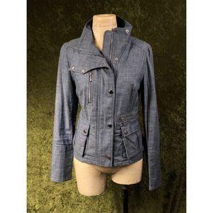 💞WHBM chambray denim motocross style jacket